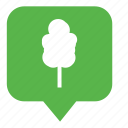 forest, oak, park, pointer, tree icon