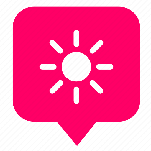 geo, location, map, place, pointer, sun, weather icon