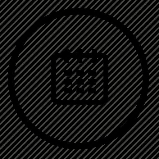 calendar, calender, date, event, month, round, schedule icon