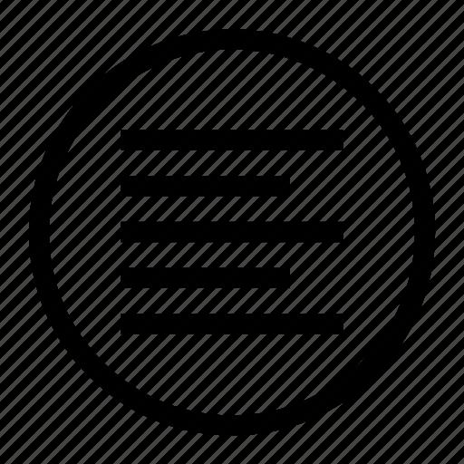 align, align left, font, left, paragraph icon