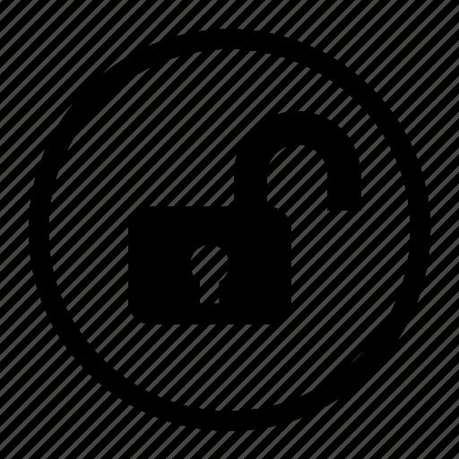 access, crack, lock, open, release, unlock icon