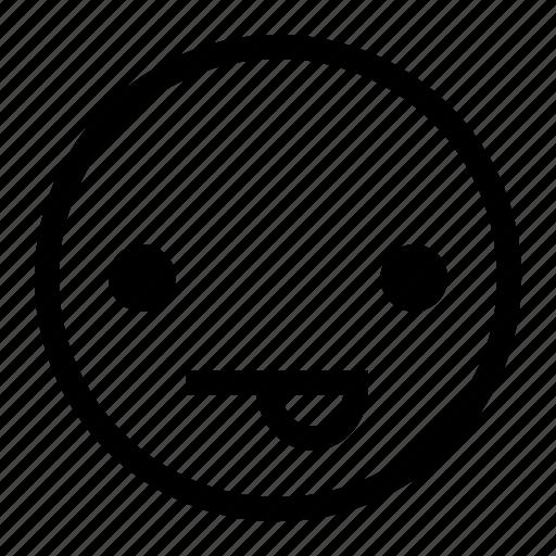 emoticon, emotion, feeling, joking, playful icon
