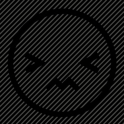 emoticon, feeling, hurt, pain, painful icon