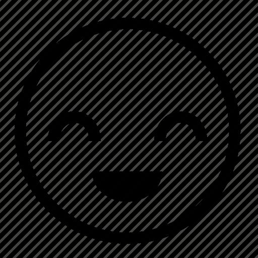 delighted, emoticon, happy, joyful, pleased icon