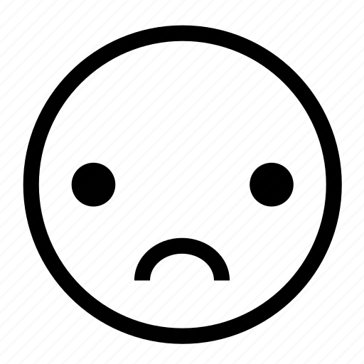 depress, disappointed, emoticon, sad, sorrow icon