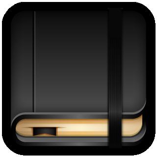 blank, moleskine icon