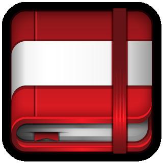moleskine, red icon