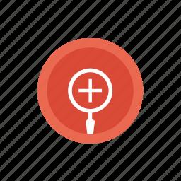 google, gplus, loupe, magnifying, plus, profile, social icon
