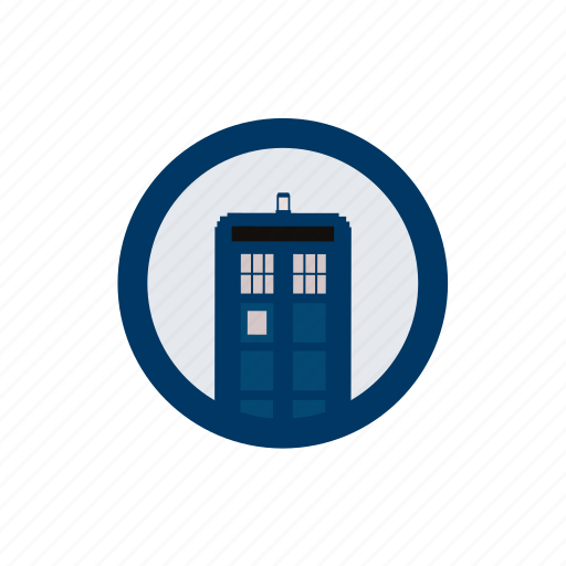 blue box, doctor, sci-fi, space, tardis, television, whovian icon