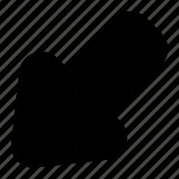 arrow, left, lower icon