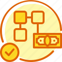 business, integrated, payment, roundify icon