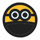 emoji, emoticon, expression, face, minion, ninja icon