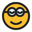 emoji, emoticon, expression, face, minion, smiling icon