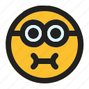 craving, emoji, emoticon, expression, face, minion icon