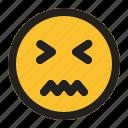 emoji, emoticon, expression, face, sick