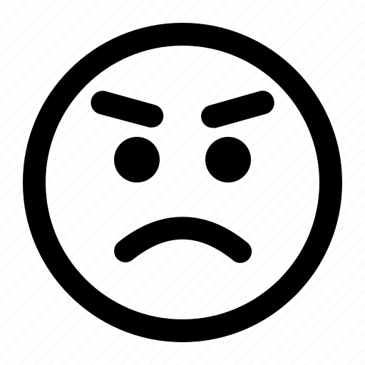 Angry, emoji, emoticon, expression, face icon - Download on Iconfinder