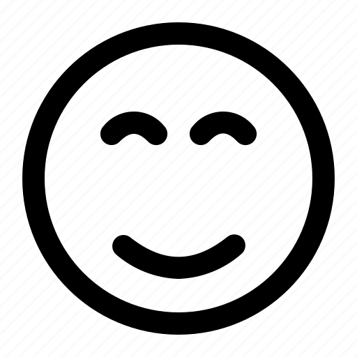 emoji, emoticon, end, expression, eyes, face, smile icon