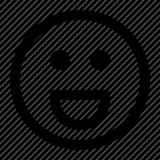 emoji, emoticon, expression, face, grinning icon
