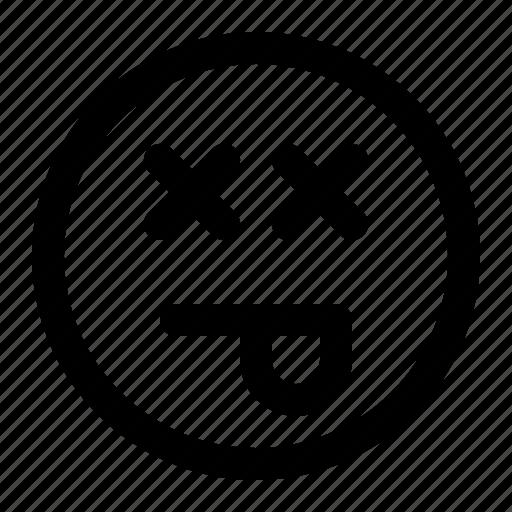 emoji, emoticon, expression, face, nauseated, sick icon