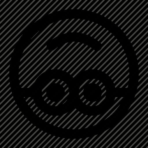 down, emoji, emoticon, expression, face, minion, upside icon