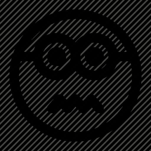emoji, emoticon, expression, face, minion, sicksad icon