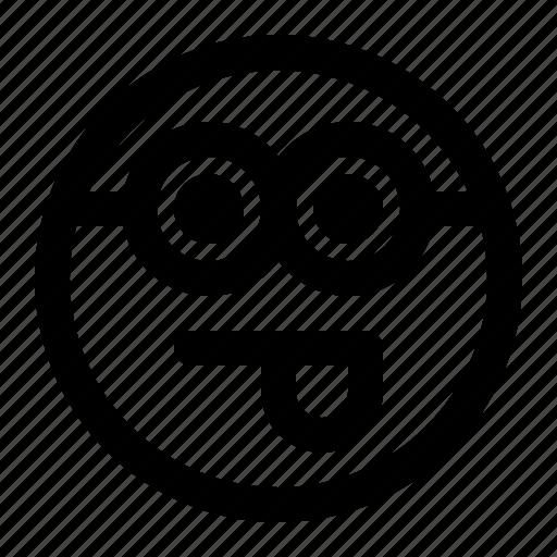 emoji, emoticon, expression, face, minion, tongue icon