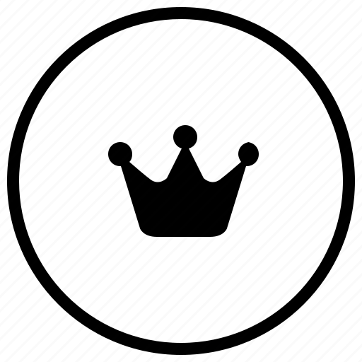 circle, crown, label, round, royal icon