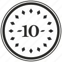 coin, number, position, room, ten icon