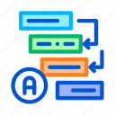 algorithm, automatic, cyber, graphical, rpa, technology icon