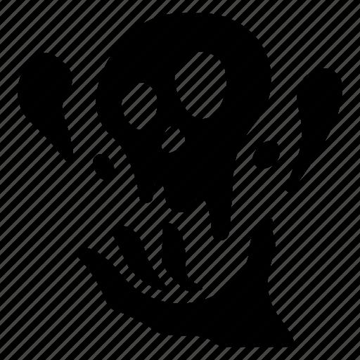 dark, dead, magic, magician, necromancer, skull, sorcerer icon