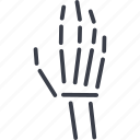 hand brush, doctor, anatomy, orthopedics, medicine, rehabilitation, x-ray icon