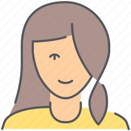 daughter, female, girl, kid, person, teenager, user icon