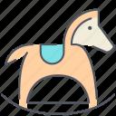 horse, reclining, children, kids, play, pony, toy