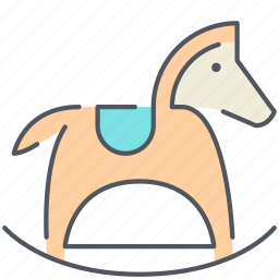 children, horse, kids, play, pony, reclining, toy icon