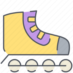 blades, hobby, roller, skates, skating icon