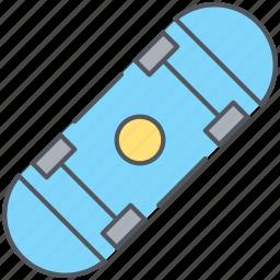 hobby, riding, skateboard, skating, sports icon