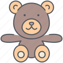 baby, bear, child, play, teddy, teddy bear, toy icon