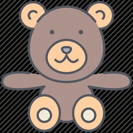 baby, bear, child, play, teddy, teddy bear, toy icon