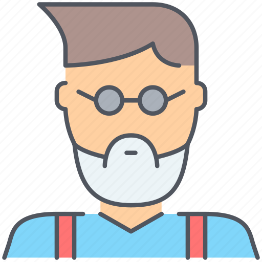 designer, developer, family, guy, hipster, person, uncle icon