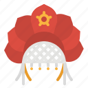 culture, hat, kokoshnik, russia, russian