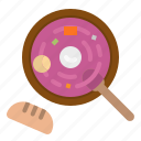 borscht, culture, food, restaurant, russia icon