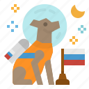 astronaut, dog, laika, space, sputnik icon