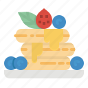 baker, dessert, french, pancakes, syrup icon