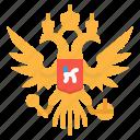 arms, coat, crest, emblem, russia icon