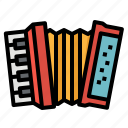 accordion, instrument, music, squeezebox icon