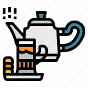 hot, kettle, tea, teapot, time icon