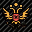 arms, coat, crest, emblem, russia