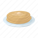 dish, dough, food, fried, national, pancake icon