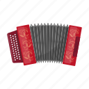 musical, national, accordion, instrument, russian