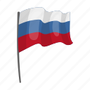 flag, national, russia, state icon